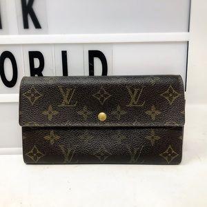 Louis Vuitton Sarah Monogram Long Bifold Wallet